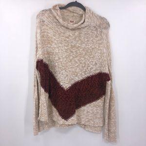🍒Mossimo Supply Co Cowl Chevron Knit Sweater M